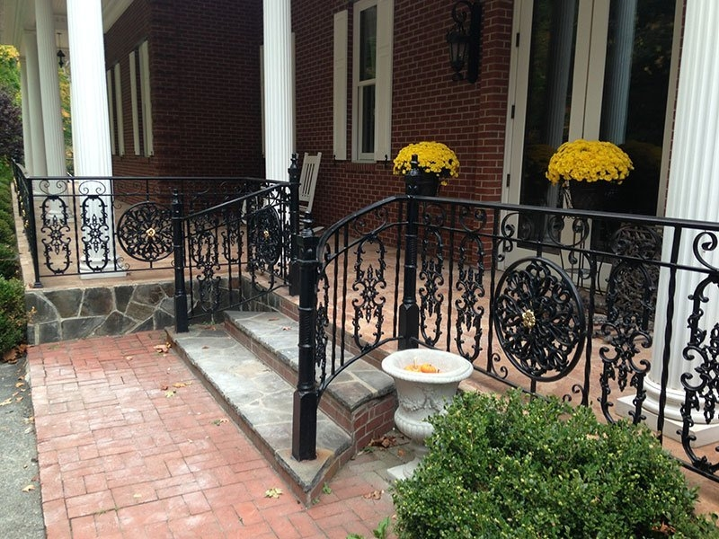 Custom Wrought Iron Railing Installation Putnam County Ny R | Wrought Iron Outdoor Handrails | Curved | Vintage Salvaged Outdoor Iron | Aluminum | Modern | Residential