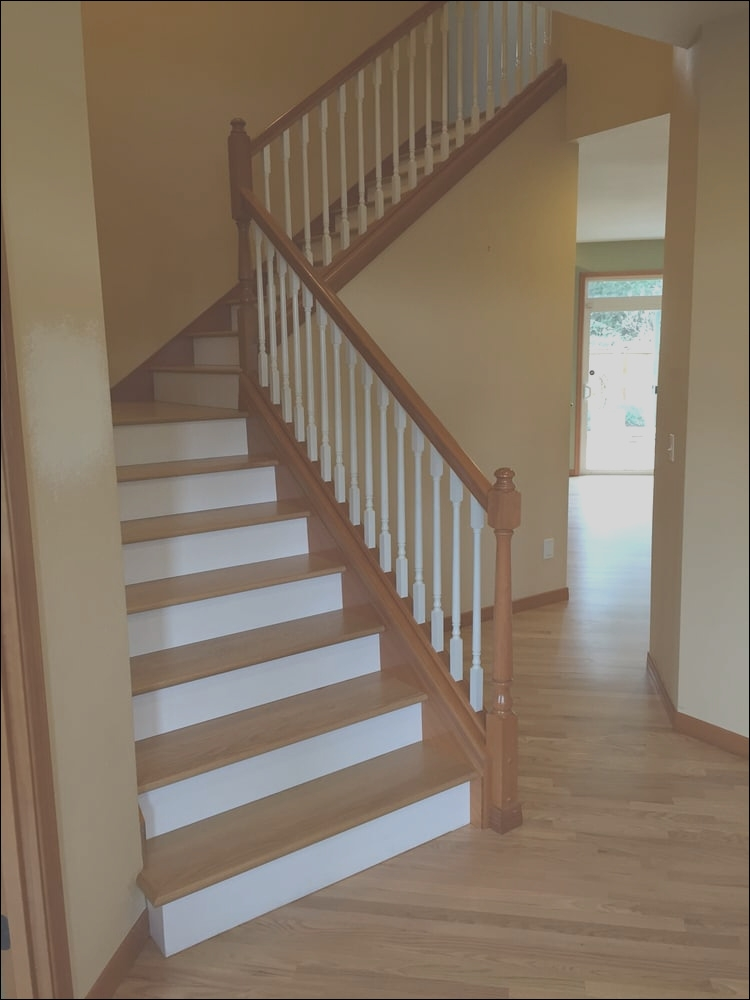 12 Qualified Wooden Stairs White Risers Image Stairs   Wood Stairs With White Risers