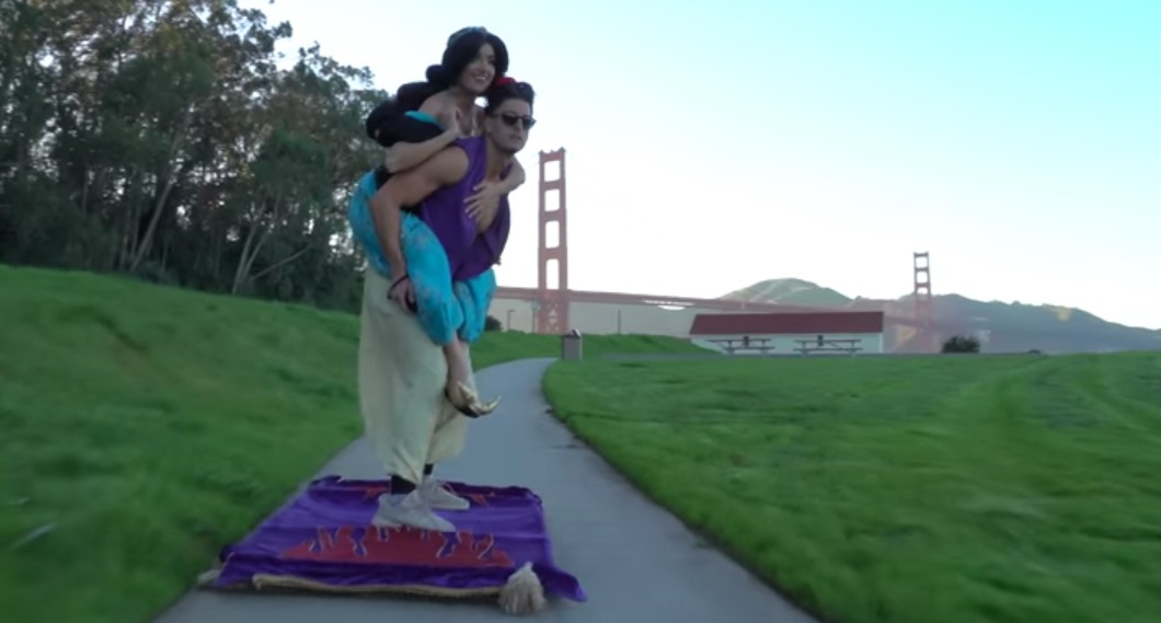 Aladdin Goes on Magic Carpet Ride Through Streets of San Francisco     Aladdin Goes on Magic Carpet Ride Through Streets of San Francisco   RTM    RightThisMinute