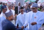 PHOTOSCENE: Buhari commissions coaches for Abuja-Kaduna Rail line President Muhammadu Buhari on Thursday, commissioned 10 New Coaches and two Locomotives for the Abuja-Kaduna Rail line service at the Rigasa train station, Kaduna.