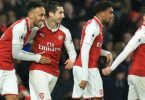 Iwobi in action, Aubameyang scores on debut as Arsenal thrash Everton