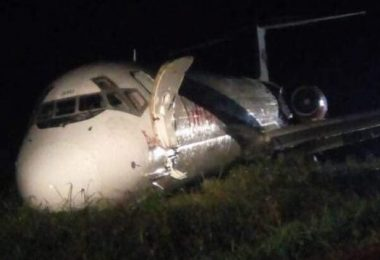 Dana Air overshoots runway in P/Harcourt, all passengers survive(Updated)
