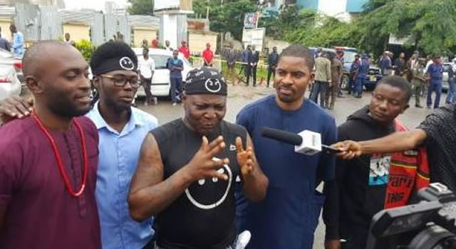 Charly Boy storms NNPC office, over persistent fuel scarcity