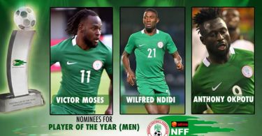 Moses, Ndidi, Opkotu up for Player of the Year award