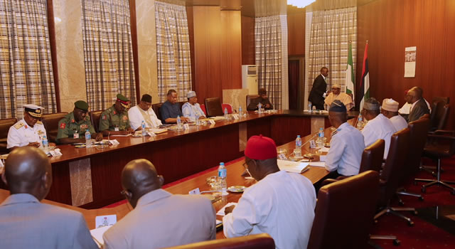 INSECURITY: Buhari, Osinbajo, security chiefs, meet behind closed door
