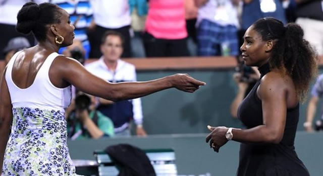Venus Williams stops sister Serena at Indian Wells