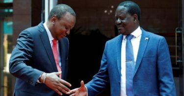 Surprise handshake between bitter rivals Uhuru & Odinga stirs up Kenyan politics
