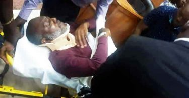 Metuh intentionally fell down – Justice Abang