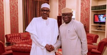 EKITI 2018: I'm confident of victory because of your 'track record', Buhari tells Fayemi