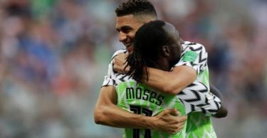 Balogun hugs Moses: Drogba tips super eagles for world cup last 16