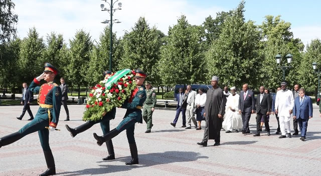 PHOTOSCENE: Saraki honors Unknown Soldier In Russia