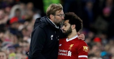 Mohamed salah and Jurgen klopp