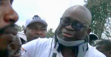 Fayose appears in neck-brace, narrates ordeal in hands of police