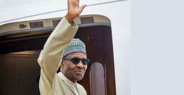 PHOTOSCENE: Buhari leaves for Netherlands