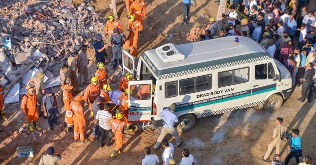 INDIA: 3 feared dead, several trapped as 2 buildings collapse
