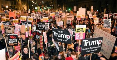 Over 250,000 strong protesters march against Trump's UK visit