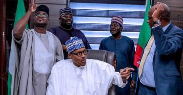 PHOTOSCENE: Buhari tours re-election campaign office