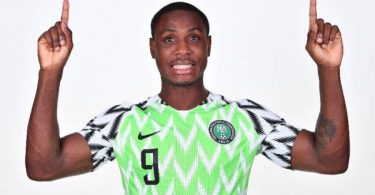 Odion Ighalo with Super Eagles vs Seychelles