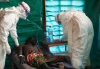 Health workers in DRC tending to Ebola patients