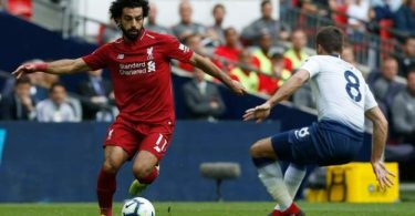 Mohamed salah in liverpool vs Tottenham