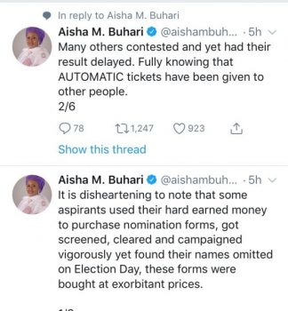 Even with an activist leader like Oshiomhole impunity reigns in APC —Aisha Buhari