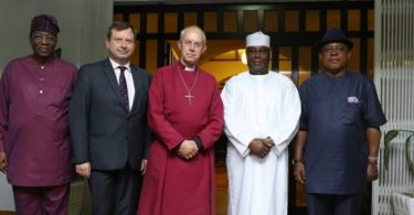 Atiku meets British High Commissioner, Buhari's friend Archbishop of Canterbury