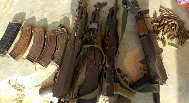 Nigerian troops kill 5 Boko Haram fighters, recover guns