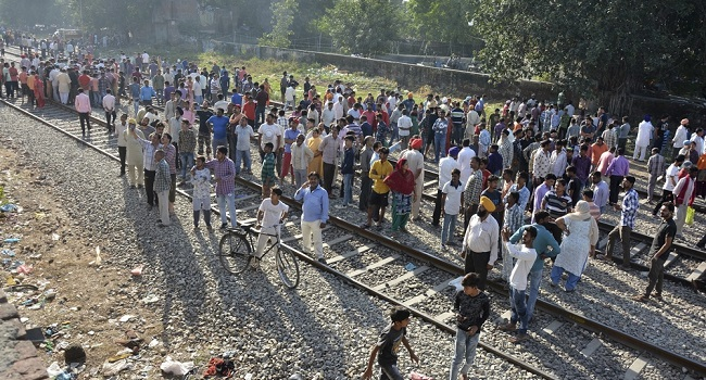 Deadly train accident which claimed 59 lives sparks wild protests in India