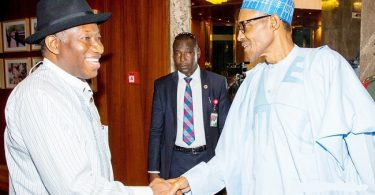 BUHARI TO GEJ: 'You're a leader of the past, of now and of the future; you will rise again'