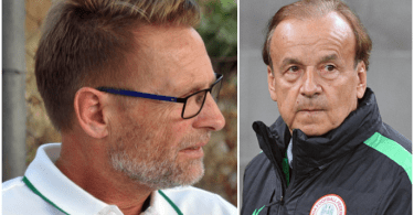 Gernot Rohr and Thomas Dennerby