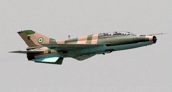Nigerian Airforce pounds hideout of armed bandits in Zamfara