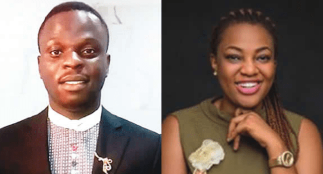 Chris Omatsola and his ex-lover Tamaratokoni Okpe