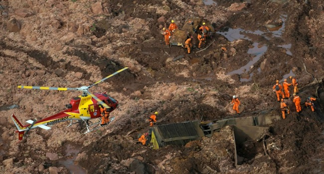 Death toll from Brazil dam collapse rises to 34, over 300 people declared missing