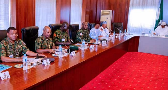 Buhari, security chiefs, governors in closed door meeting