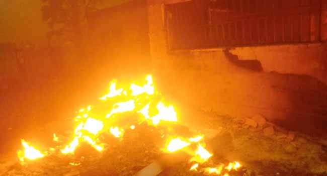 Another INEC office destroyed by fire; PVCs, voter register, ballot boxes affected