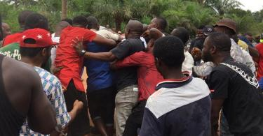 ION: APC gov candidate, Uzodinma votes as thugs fight over money he gave them (Photo)