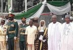 Oshiomhole goofs, gets embarrassed at President Buhari's inauguration
