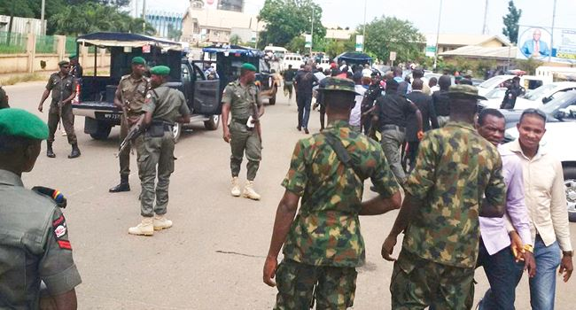JUST IN: Security operatives block Appeal court premises