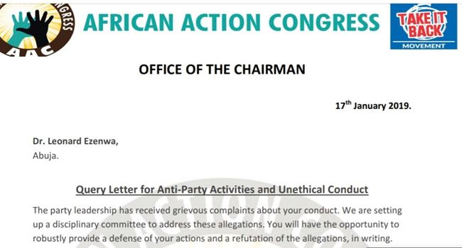 AAC reveals real reason for sacking Sowore, lists next line of action