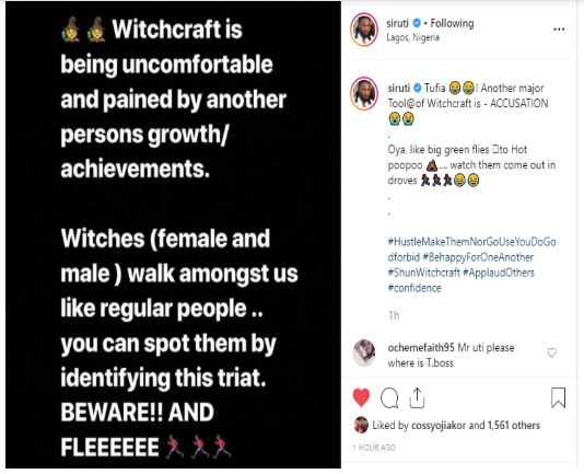 Uti Nwachukwu calls BBNaija's Ifu Ennada a witch for slighting him