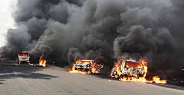 Fire razes Lagos mechanic village, destroys over 20 vehicles
