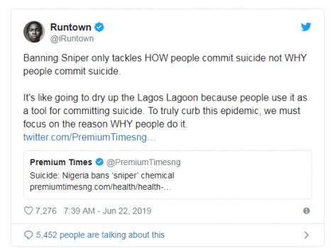 'It won't work', Runtown says as NAFDAC moves to ban Sniper insecticide