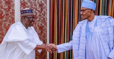 Buhari, Lawan meet in Aso Rock