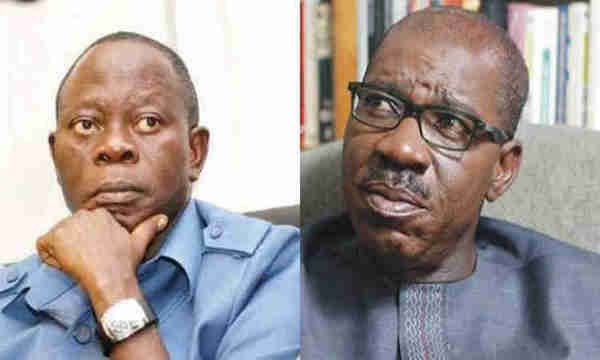 Oshiomhole reveals why Obaseki is creating crisis in Edo APC