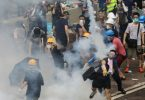 Police fire rubber bullets, tear gas in violent clash with protesters in Hong Kong