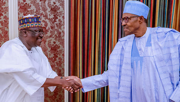 Buhari-Receives-Senate-President-Senator-Ahmed-Lawan