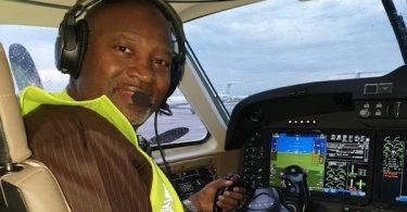 Hadi Sirika in the new aircraft