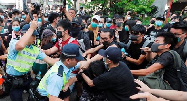 HONG KONG: Riot police fire tear gas, baton-charge many in renewed clashes with protesters