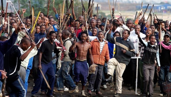 South Africans during xenophobic attacks