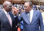 President Uhuru Kenyatta and his Deputy President William Ruto